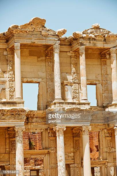 library of celsus - ephesus - ephesus stock pictures, royalty-free photos & images