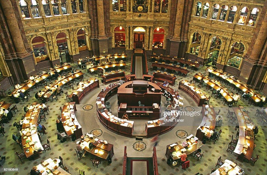 US Library of Congress Main Reading Room : Stock Photo