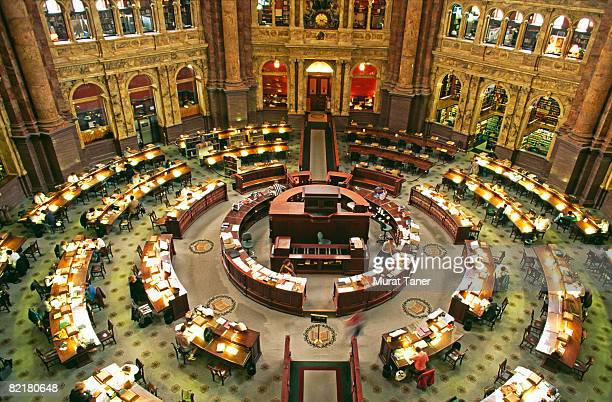 us library of congress main reading room - congress stock pictures, royalty-free photos & images