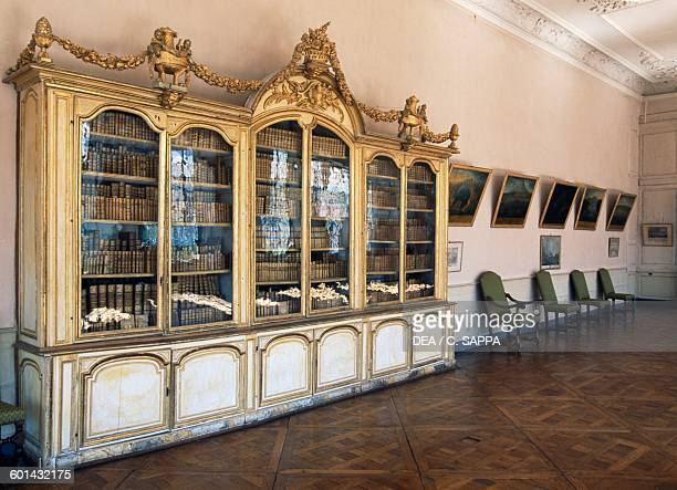 Library of the Chateau de Ravel Auvergne France