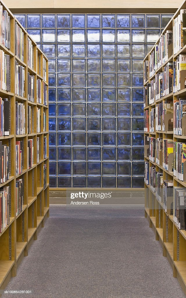 Library shelves : Foto stock