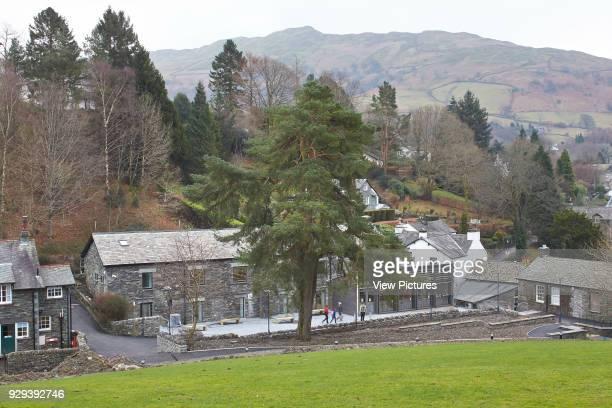 Library & Student Hub, Ambleside Campus, University Of Cumbria, Ambleside, United Kingdom. Architect: John McAslan & Partners, 2014. Elevated view...