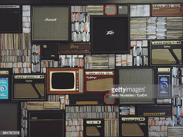 library with old tapes - archives stock pictures, royalty-free photos & images