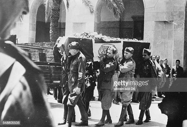 Libya *05061896 Officer Politician Italy Funeral of Italo Balbo and other victims Photographer PresseIllustrationen Heinrich Hoffmann Published by...