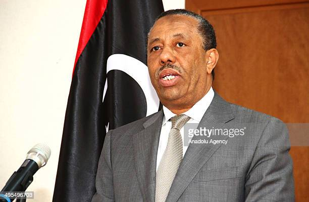 Libya interim Prime Minister Abdullah alThani holds a press conference and says that his duty of premiership continues and he is in touch with the...