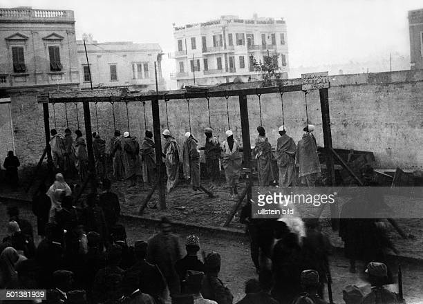 execution of 14 men who had opposed the Italian occupation during the war between Italy and the Ottoman Empire 1911/1912