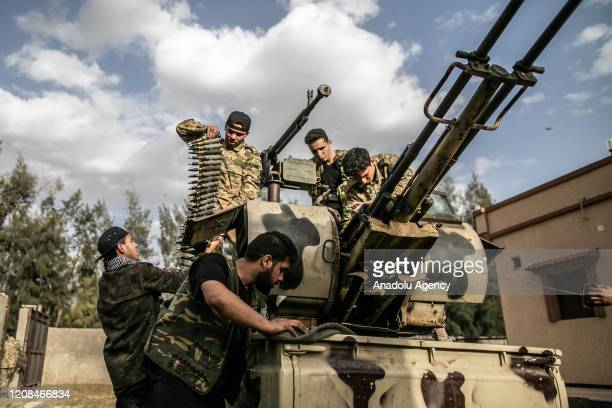 """Libyan Army forces attend """"Operation Peace Storm"""" of the Libyaâs Government of National Accord against the forces of warlord Khalifa Haftar in..."""