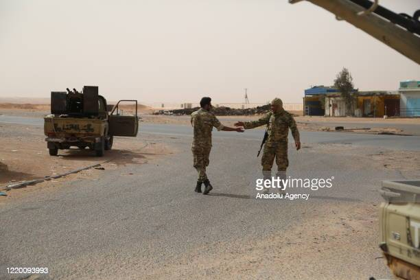 """Libyan Army members are seen as they make preparations at Ebu Gireyn and Viske regions within their operation named """"Path of Victory"""" launched to..."""