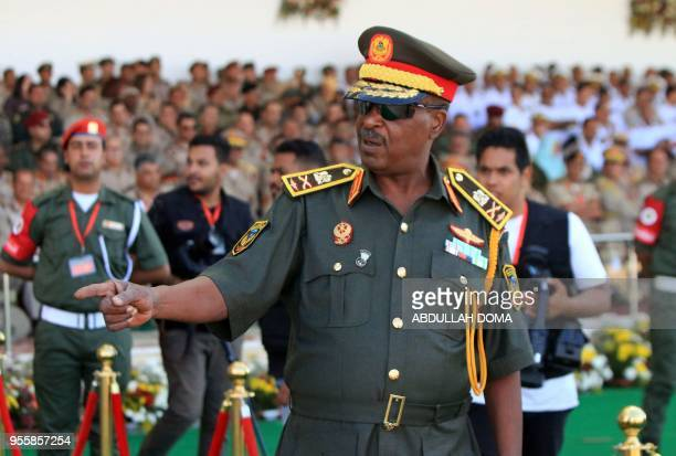 Libyan Army Special Forces Commander Wanis Bukhamada attends a military parade in the eastern city of Benghazi on May 7 during which Libyan Strongman...