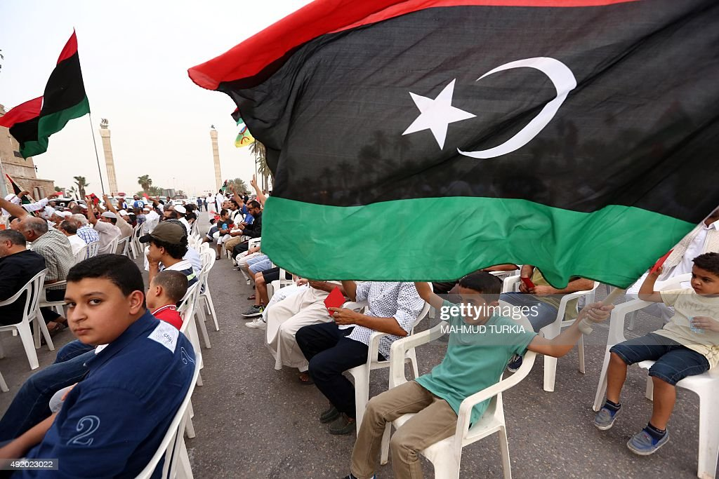 LIBYA-POLITICS-CONFLICT-UN-MOROCCO-TALKS-DEMO : News Photo