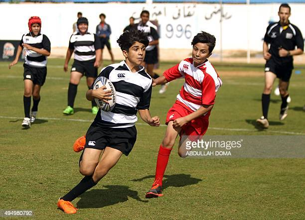 Libyan children take part in the first Benghazi rugby league competition organized by the Olympic Rugby Committee by Rugby2018 Project team for...