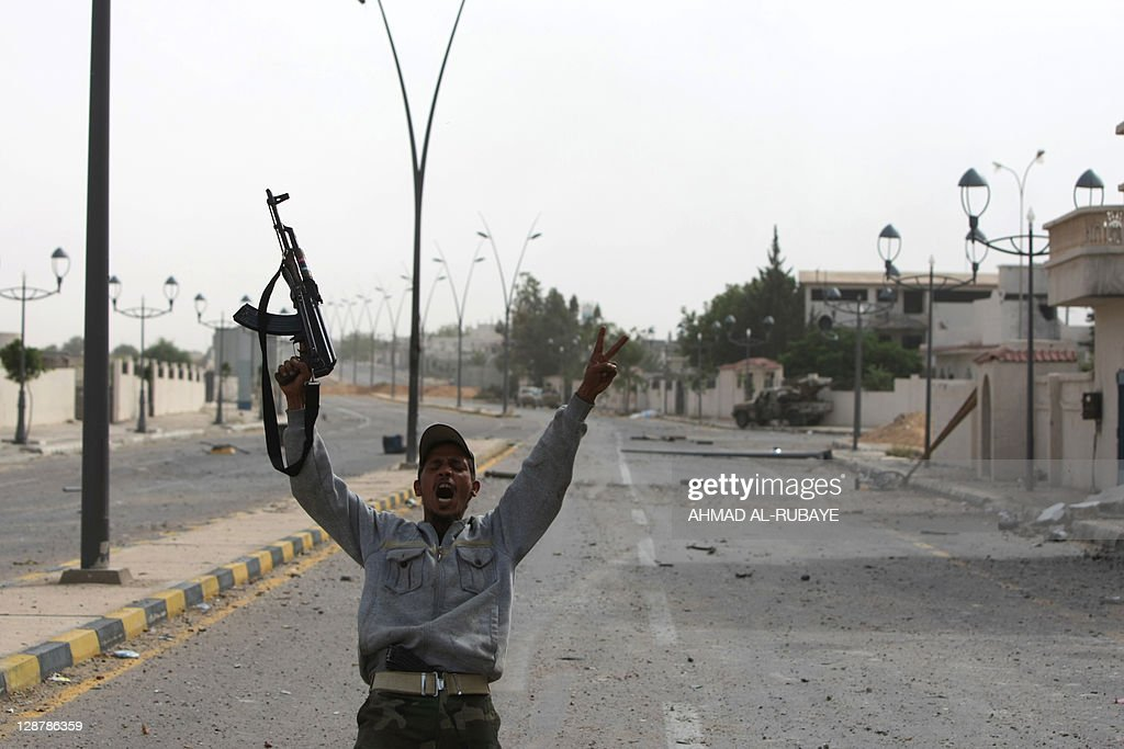 A Libyan fighter loyal to the National T : News Photo