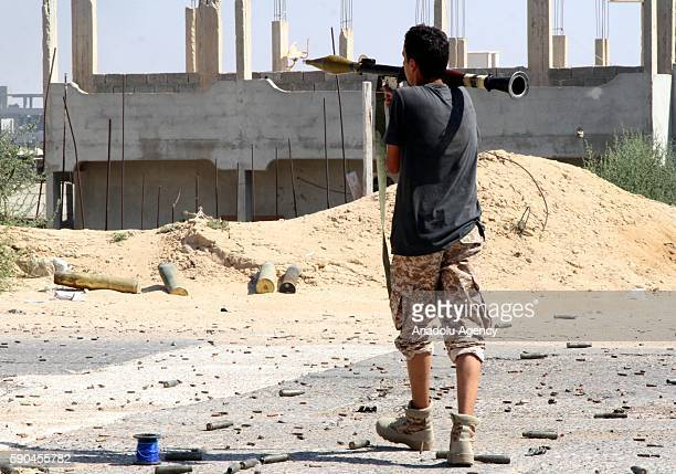 Libyan Government of National Accord forces, attack DAESH militants with heavy and light weapons in Sirte, Libya on August 16, 2016.