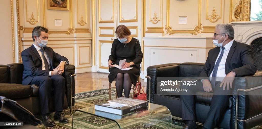 Fathi Bashagha -  Gerald Darmanin meeting in Paris : News Photo