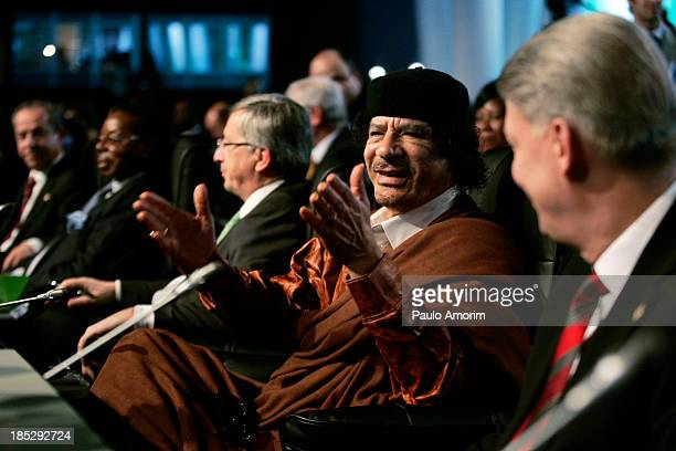 CONTENT] Libyan leader Moamer Kadhafi gesture during the European Union and Africa summit 08 December 2007 in Lisbon The leaders of Europe and Africa...