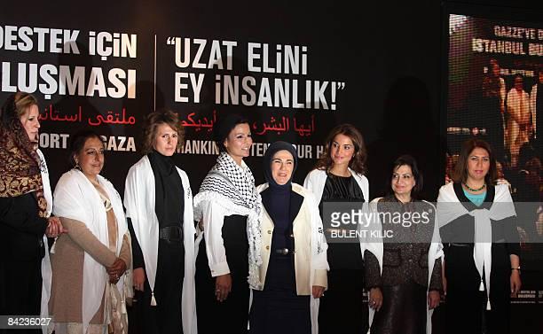 Libyan leader Moamer Khadafi's daughter Aisha Moamer alKhadafi Pakistani First Lady Begum Fauzia Yousuf Raza Gilani Syrian First Lady Asma alAssad...