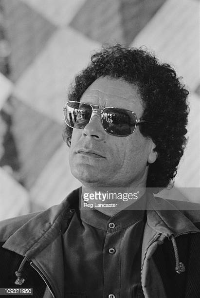 Libyan leader Muammar alGaddafi February 1985
