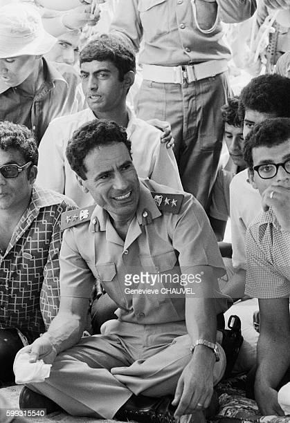 Libyan Leader Muammar alQaddafi meets with Libyan students who are studying abroad in Tripoli Libya