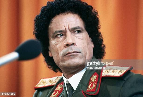 Libyan President Muammar alQaddafi in Moscow