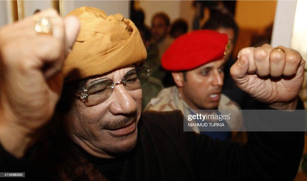 LIBYA-UNREST-POLITICS-KADHAFI : Fotografía de noticias