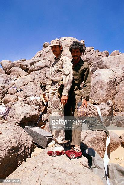 Libyan troops in their camouflage gear in the desert After nearly two decades of effort Colonel Moammar Gadhafi's imperial adventure in the Sahara...