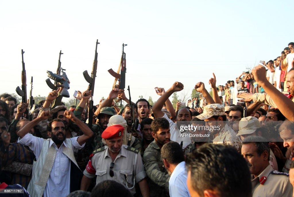 LIBYA-CONFLICT-JIHADISTS-FUNERAL : News Photo