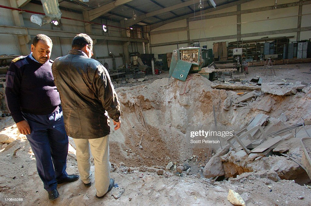 Libyans inspect damage to sheds full of missile, training