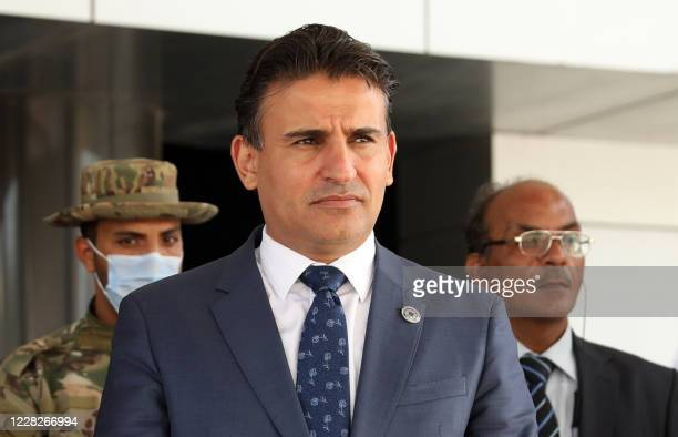 Libya's deputy and acting defence minister Salah Eddine Namrouch is pictured in the Libyan capital Tripoli on August 17, 2020. - The head of Libya's...