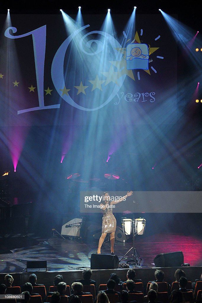 Lica de Guzman performs during the Little Dreams Foundation 10th Anniversary Gala at Leman Theatre on October 21, 2010 in Geneva, Switzerland.