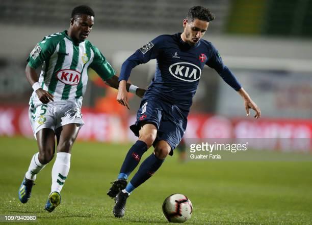 Lica of Belenenses SAD with Mano of Vitoria FC in action during the Liga NOS match between Vitoria FC and Belenenses SAD at Estadio do Bonfim on...
