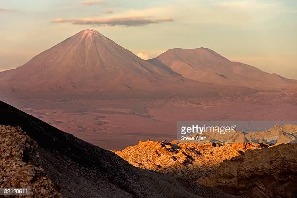 Licancabur Volcano at dusk