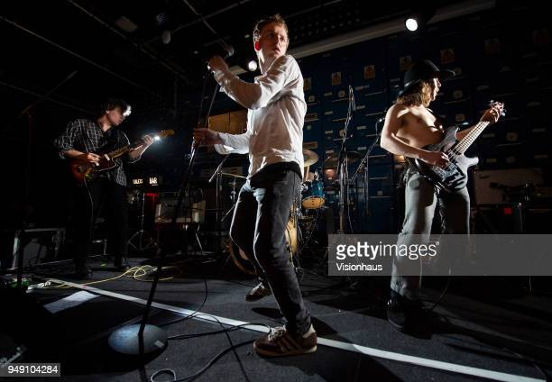 Lice performs at Gorilla as support to Idles on April 18 2018 in Manchester England