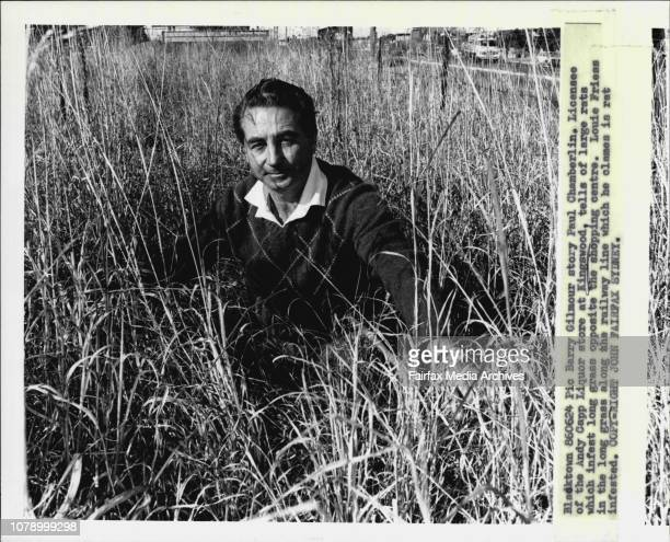 Licensee of the Andy Capp Liquor store at Kingswood tells of large rats which infest long grass opposite the shopping centre Louie Friess in the long...
