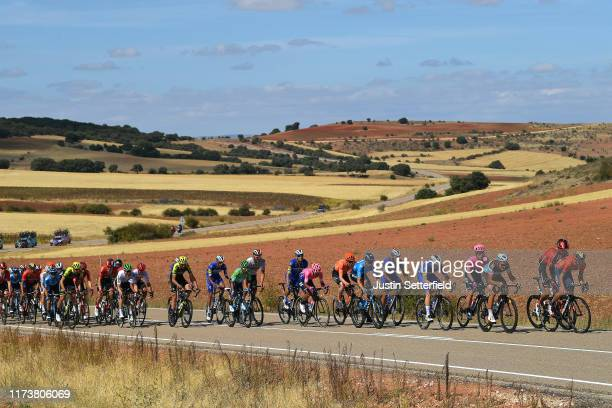 Liceras / Nairo Quintana of Colombia and Movistar Team Green Points Jersey / Jose Rojas of Spain and Movistar Team / Imanol Erviti Ollo of Spain and...