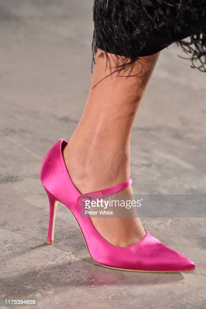 Licett Morillo, shoe detail, walks the runway for the Jason Wu Collection during New York Fashion Week: The Shows at Pier 17 on September 08, 2019 in...