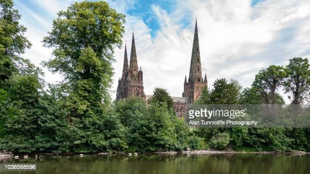 Lichfield cathedral spires