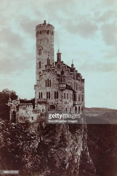 Lichtenstein Castle About 1900 Photograph by W Hornung / Tübingen Photograph Schloss Lichtenstein Um 1900 Photographie von W Hornung /Tübingen...