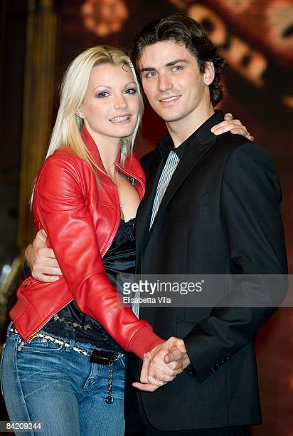 "Licia Nunez and dancer Dima Pakhomov attend photocall of the Italian TV show ""Strictly Come Dancing"" on January 8, 2009 in Rome, Italy."