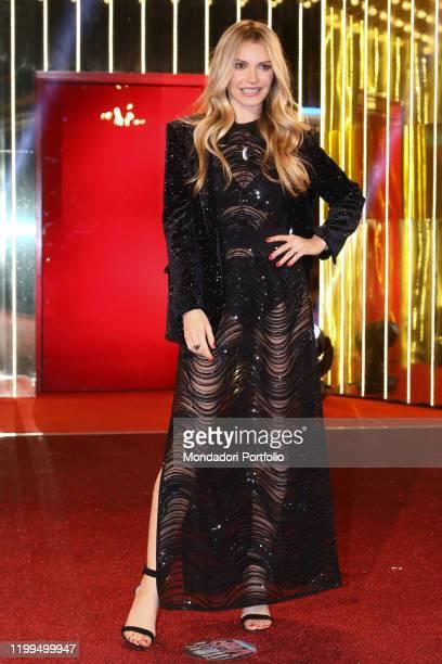 Licia Nunez during first episode tv broadcast Grande fratello vip 4 in the Cinecittà studios Rome January 08th 2020