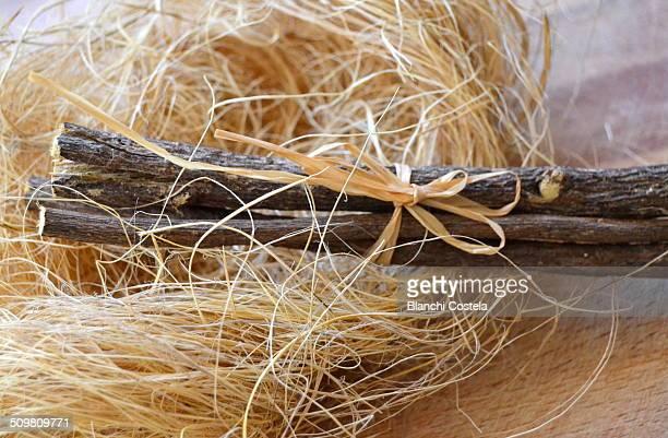 Licorice sticks on a table