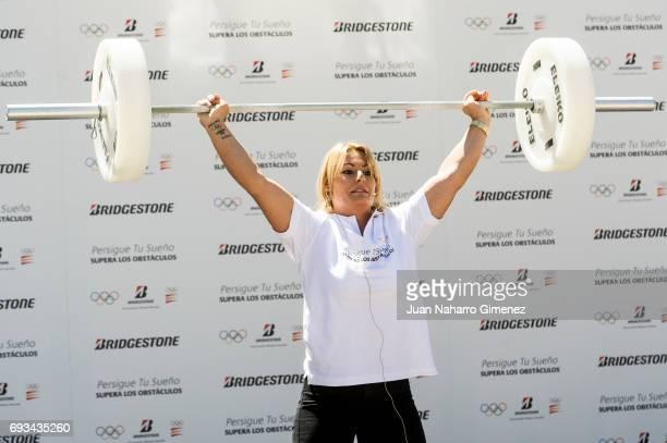 Lidia Valentin attends 'Persigue Tu Sueno Supera Los Obstaculos' Bridgestone campaign presentation at COE on June 7 2017 in Madrid Spain