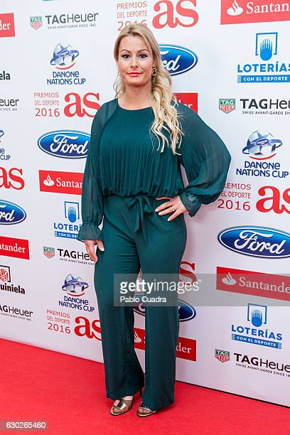 Lidia Valentin attends the 'AS Del Deporte' awards 2016 gala at Westing Palace Hotel on December 19 2016 in Madrid Spain