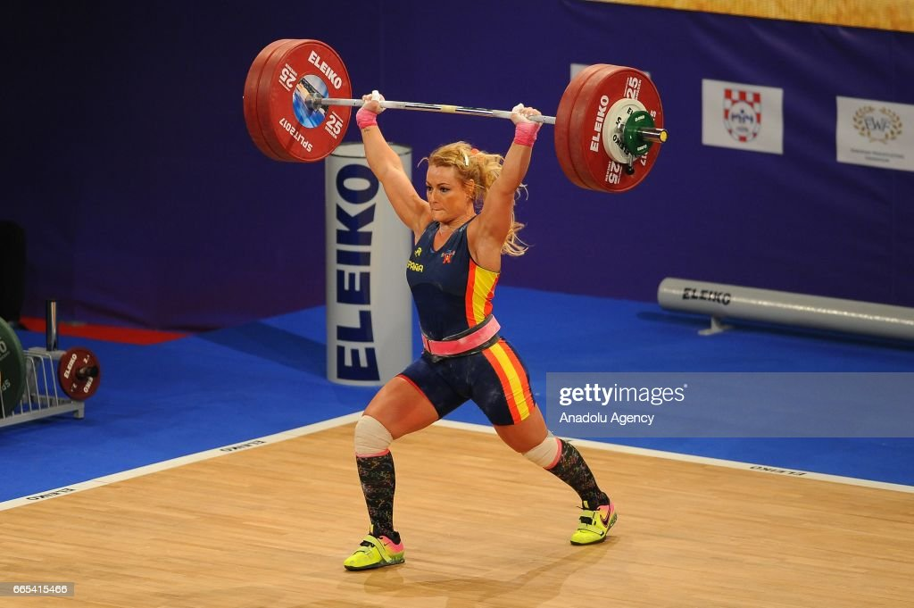 Lidia Valentin Of Spain Makes An Attempt During The Womenu0027s 75 Kg Final  Competition Of The