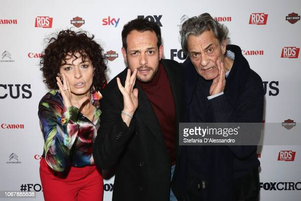 Lidia Vitale Alessandro D'Ambrosi Federico Pacifici attend Fox Circus event at BASE Milano on December 2 2018 in Milan Italy