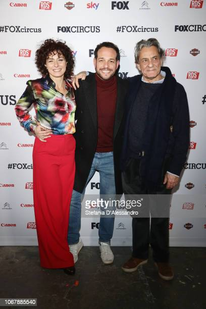 Lidia Vitale Alessandro D'Ambrosi Federico Pacifici attend 'Fox Circus' event at BASE Milano on December 2 2018 in Milan Italy