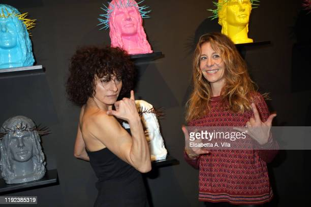 Lidia Vitale and Carlotta Natoli attend the Howtan Re Preview Party at Howtan Space on December 06 2019 in Rome Italy