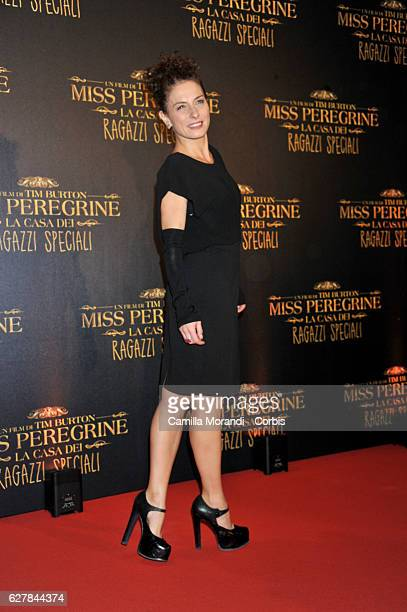 Lidia Vitale attends Burton's 'Miss Peregrine's Home for Peculiar Children' Premiere In Rome on December 5, 2016 in Rome, Italy.