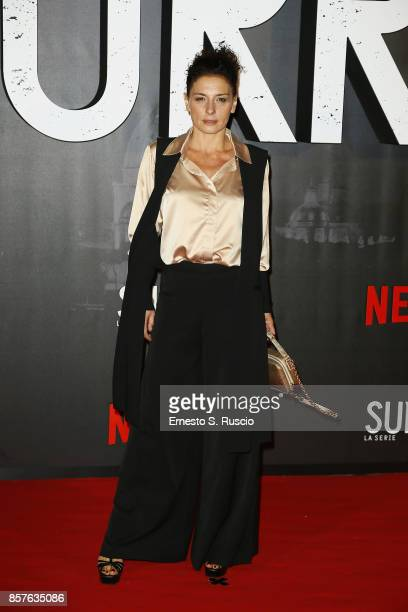 Lidia Vitale attends Netflix's Suburra The Series Premiere at The Space Moderno on October 4 2017 in Rome Italy