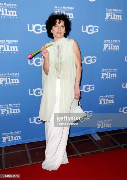 Lidia Vitale attends the 33rd Annual Santa Barbara International Film Festival Santa Barbara Award presentation at Arlington Theatre on February 4...