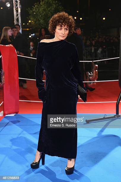 Lidia Vitale attends the 'Grudge Match' premiere at The Space Moderno on January 7 2014 in Rome Italy